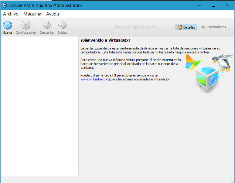 VirtualBox, creacion de una nueva maquina virtual